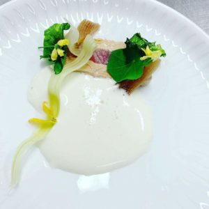tunfisk og foiegrasterrinne